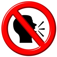 Talking head in 'do not' symbol